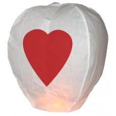 Kalp Baskılı Dilek Feneri (Dilek Balonu)